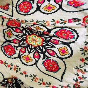 Scarf lightweight summer floral boho wrap sarong